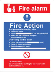 Fire Action/Call Point Without Lift Sign