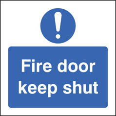 Fire door keep shut door sign