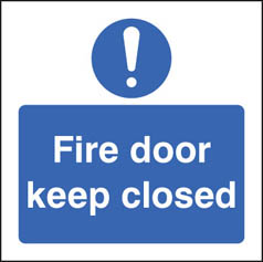 Fire door keep closed mandatory sign
