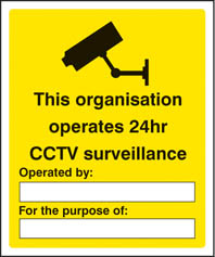 24 Hour CCTV Sign
