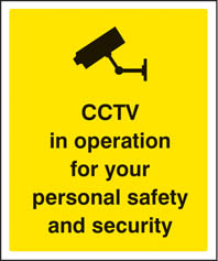 CCTV For Safety & Security Sign