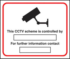 CCTV preventing & detecting crime sign