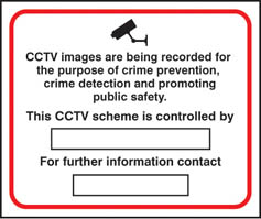 CCTV crime prevention and public safety sign