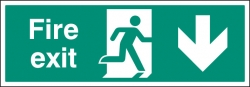 Large Format Fire Exit Signs