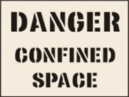 Danger Confined Space Stencil