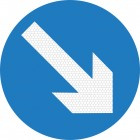 Keep Right Sign 610