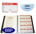Duplicating Visitor Pass Book - refills