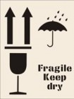 Fragile Keep Dry Stencil