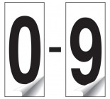 Identification Numbers Packs of 10 0-9 (White)