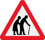 Elderly/disabled pedestrians road sign 544.2