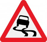 Slippery Road Sign 557