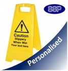 Personalised Slippery When Wet sign