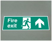 Fire exit up floor graphic