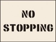 No Stopping Stencil