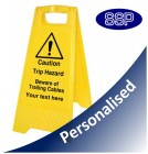 Personalised Trailing Cables Trip Hazard Sign