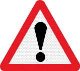 Danger exclamation mark road sign 562