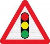 Traffic signals ahead road sign 543