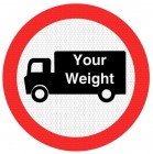 Goods Vehicle Weight Restriction Sign 622.1a