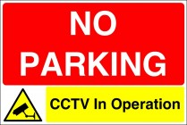 No Parking CCTV In Operation Sign