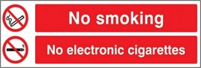 No Smoking No Electronic Cigarettes Sign