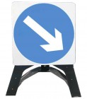 Keep Right Temporary Road Sign With Plastic Frame 610