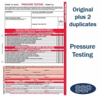 Pressure Testing Permit To Work Self Duplicating Forms