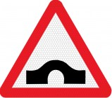 Hump bridge ahead road sign 528