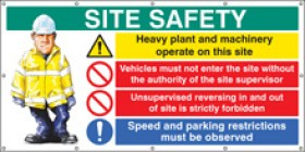 Site Safety Banners 2440x1270mm