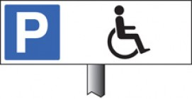 Spike Mounted Disabled Parking Sign