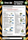 First aid resuscitation for children poster