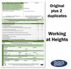 Working at Height Permit To Work Self Duplicating Forms