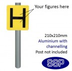 Hydrant marker Sign for Post Mounting