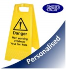 Personalised Men Working Overhead Sign