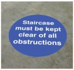Staircase must be kept clear floor graphic