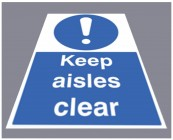 Keep aisles clear floor graphic