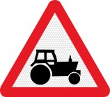 Tractors on road road sign 553.1
