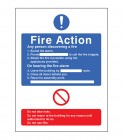 Fire Action With Lift Sign