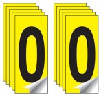 Identification Numbers Single Number 10 Packs (Yellow)