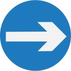 Turn Right Sign 606