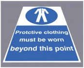 Protective clothing must be worn floor graphic