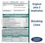Breaking Lines Permit To Work Self Duplicating Forms