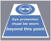 Eye protection must be worn floor graphic