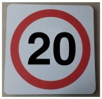 20 mph Sign Non Reflective 670