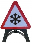 Ice Triangle Temporary Sign With Plastic Frame 554.2