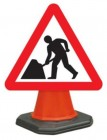 Men At Work Cone Sign 7001