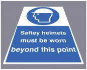 Safety helmets must be worn floor graphic