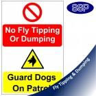 No Fly Tipping Guard Dogs Sign