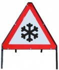 Ice Temporary Road Sign With Metal Frame 554.2