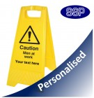 Personalised Caution Men At Work Sign