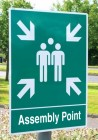 Assembly Point signs for Post Mounting
